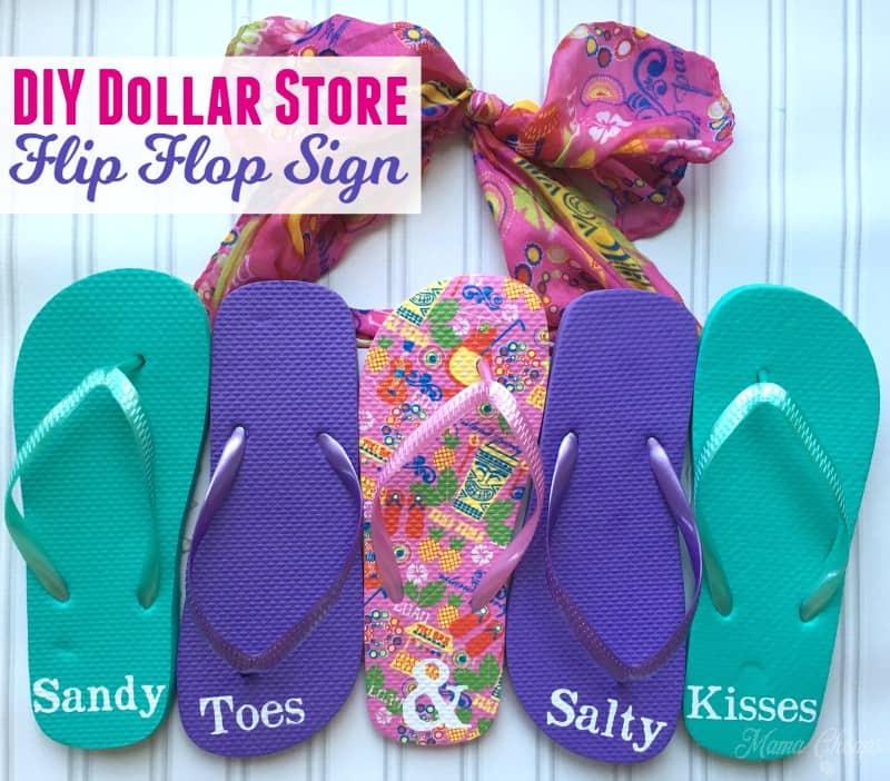 Dollar Store Flip Flop Sign