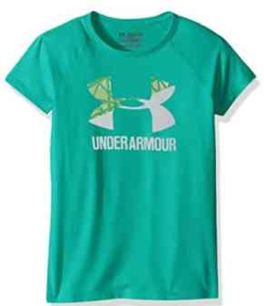 Under Armour Girls' Solid Big Logo Short Sleeve T-Shirt