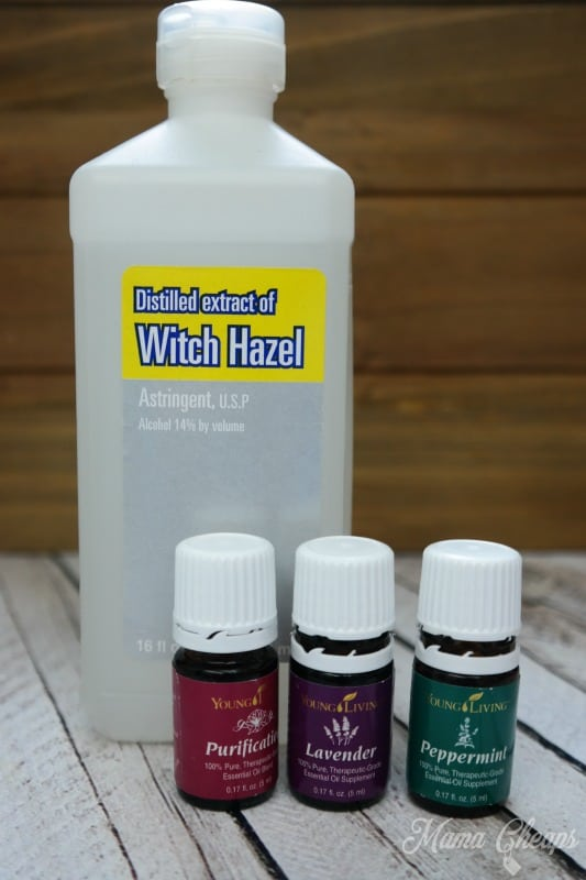 Witch Hazel and Essential Oils