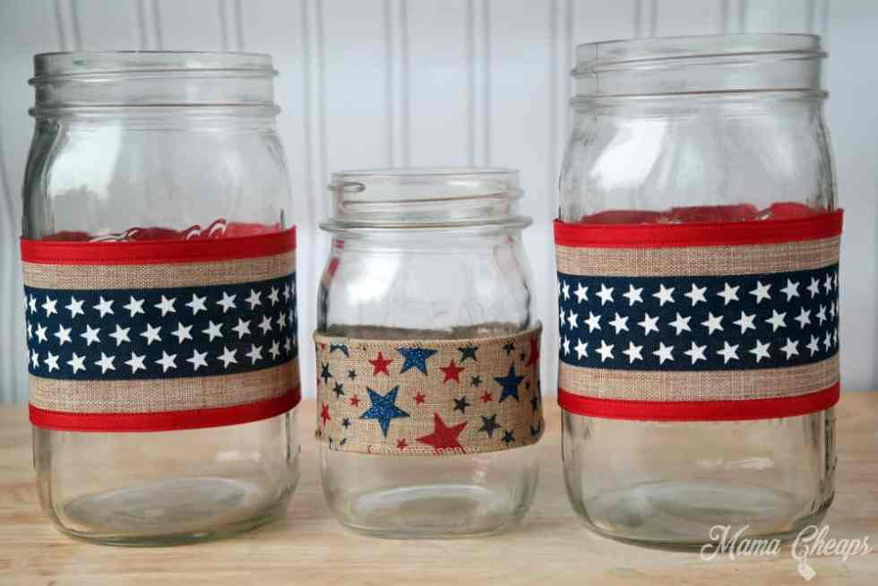 American Flag Luminaries