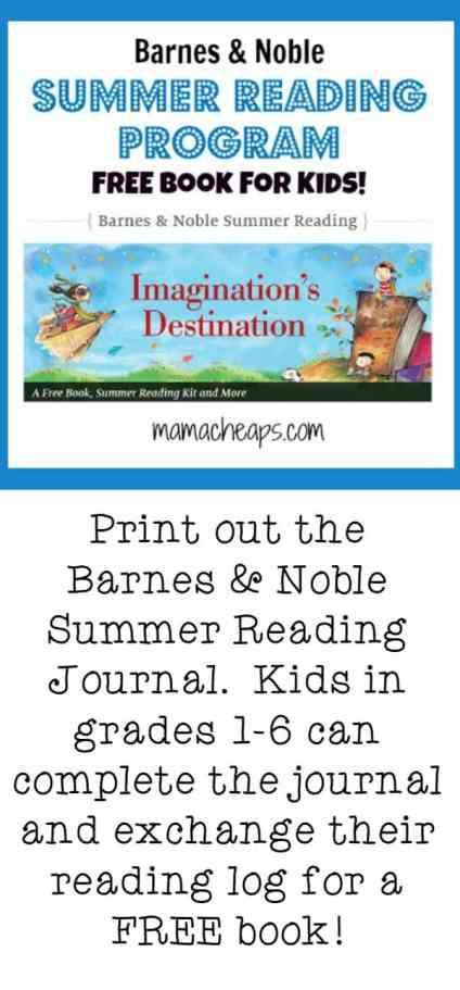 Barnes and Noble Summer Reading Program for Kids