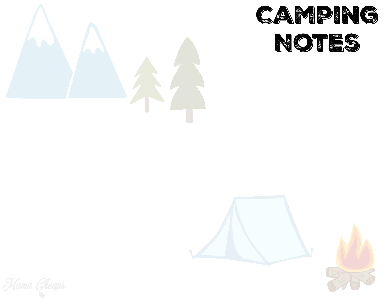 Free Printable Camping Trip Planning Kit | Mama Cheaps