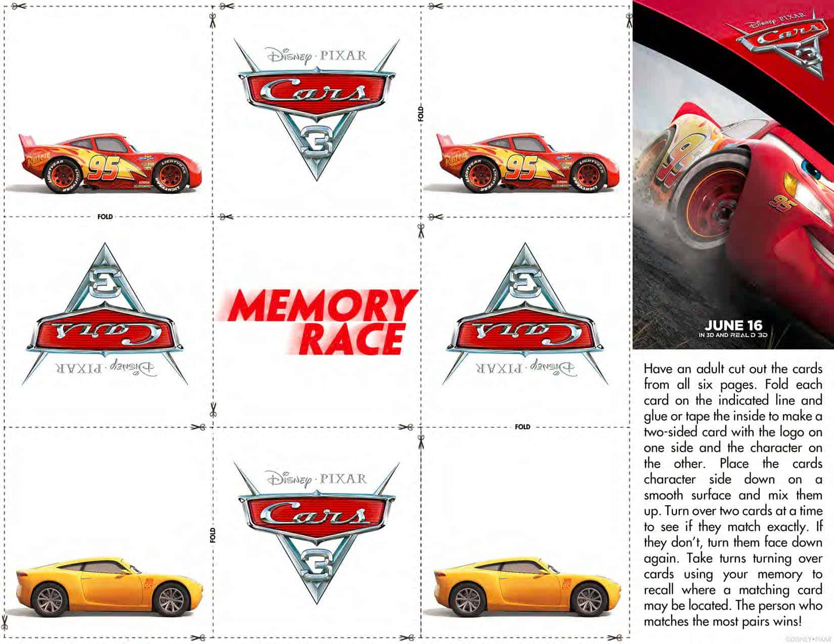 Free Cars 3 Printable Coloring Pages Amp Activity Sheets