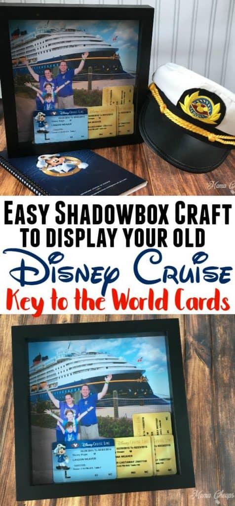 Disney Cruise Shadowbox Craft