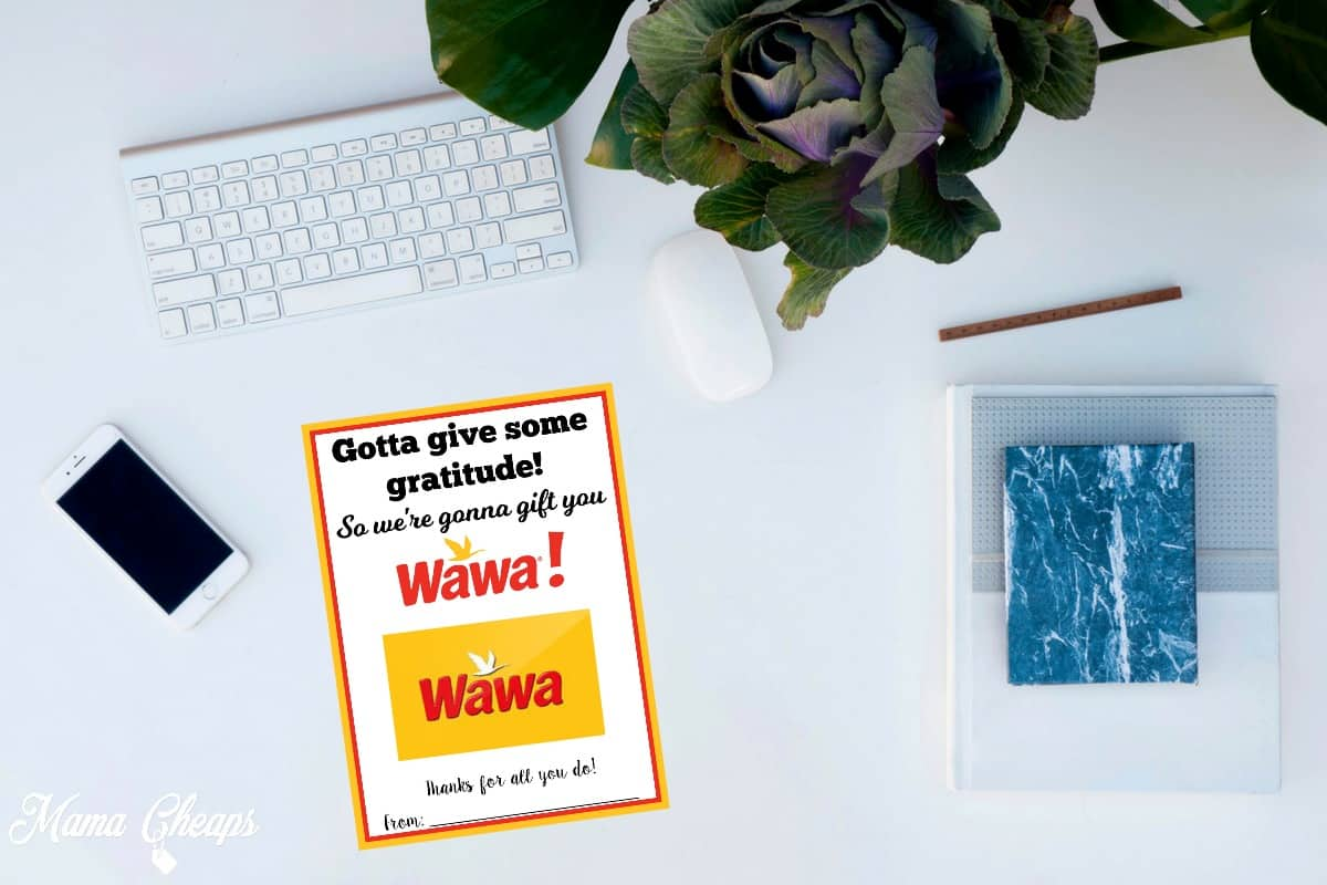 Wawa FREE Printable Gift Card Holder | Mama Cheaps
