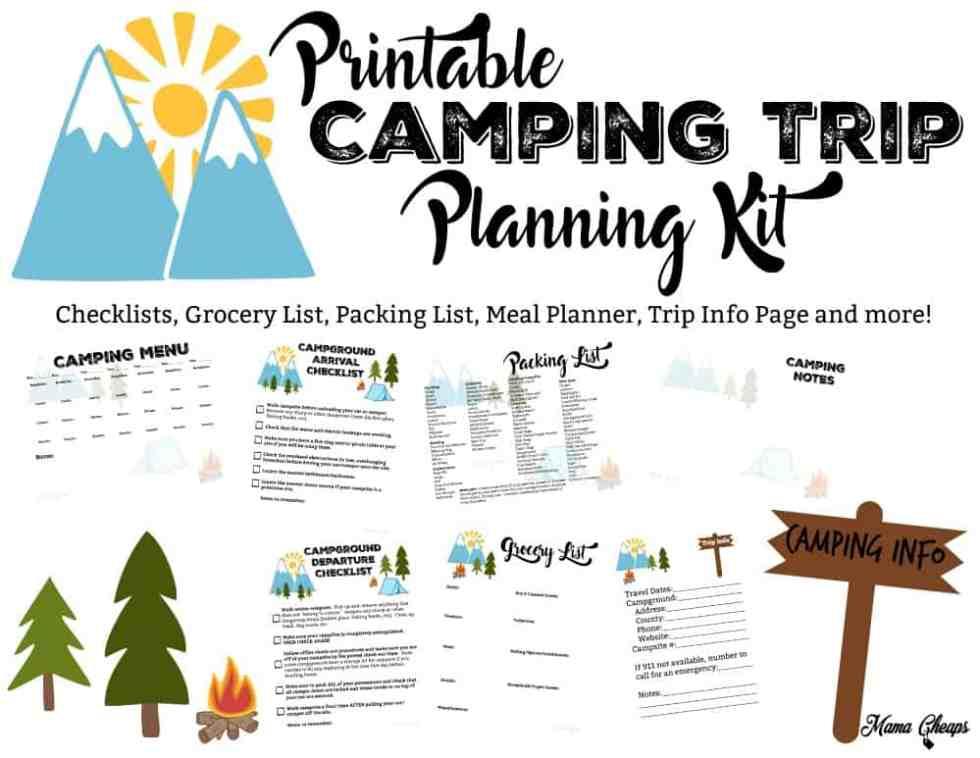 Printable Camping Trip Planning Kit