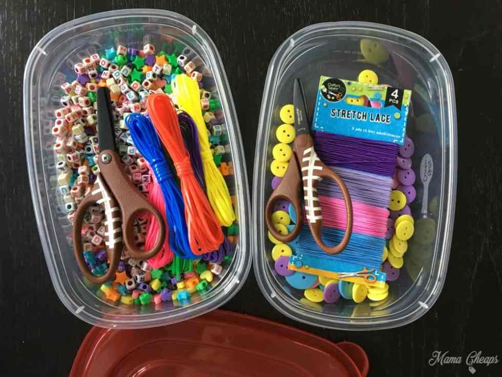 Dollar Store Buttons and Beads