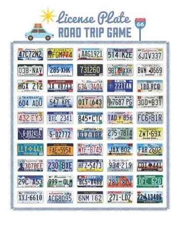 road trip license plate game