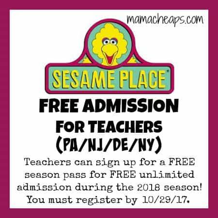 Sesame Place Teacher Pass
