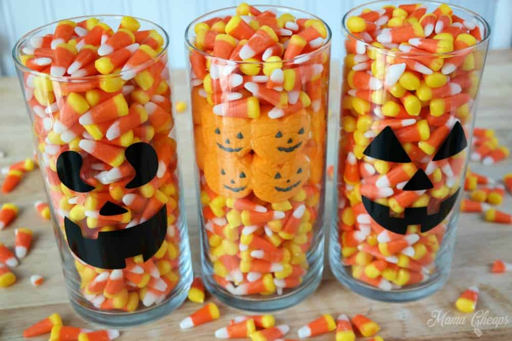 Halloween Candy Centerpiece Ideas & Halloween Candy Centerpiece Ideas (Candy Corn and Peeps) | Mama Cheaps