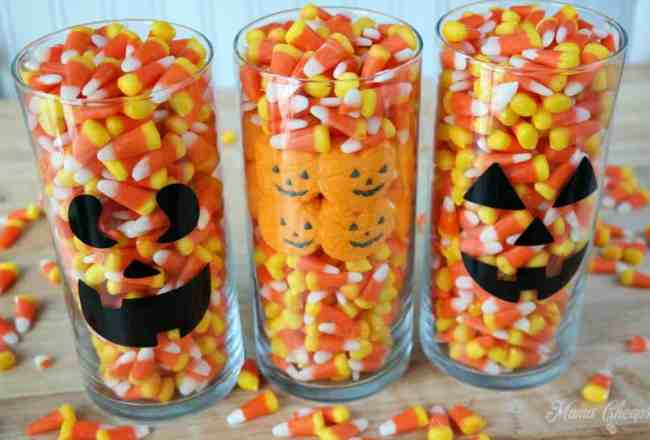 Candy Corn Centerpiece Ideas