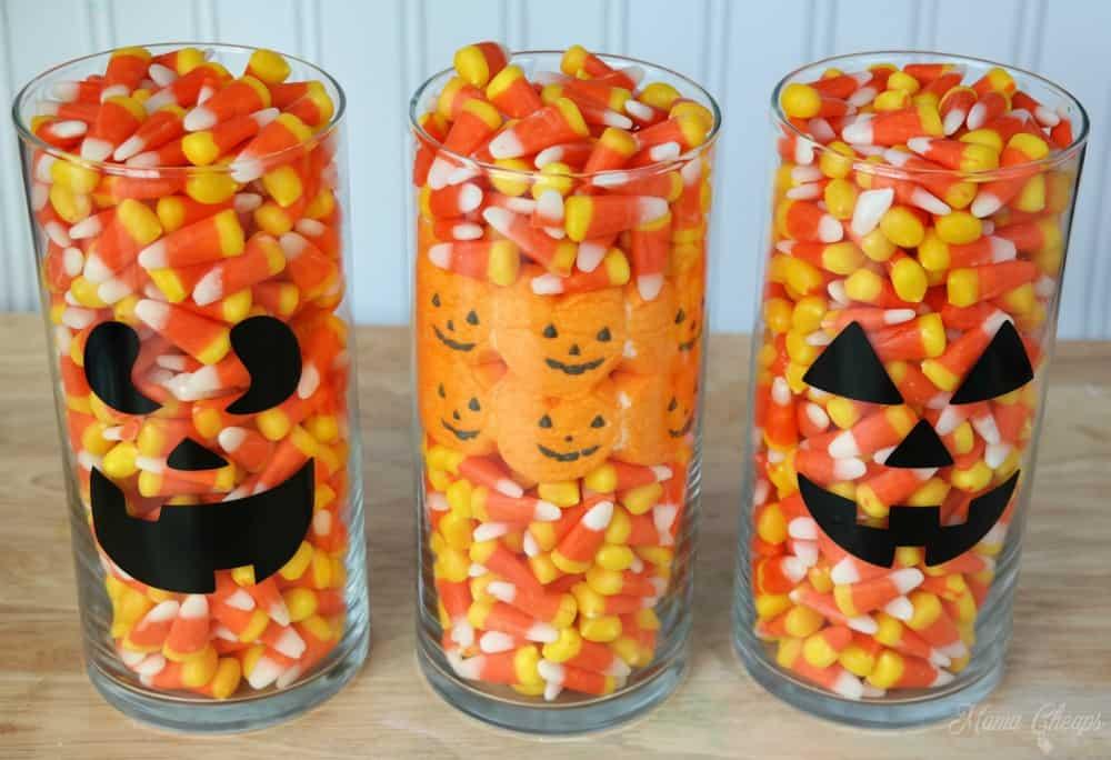 Halloween candy centerpiece ideas corn and peeps