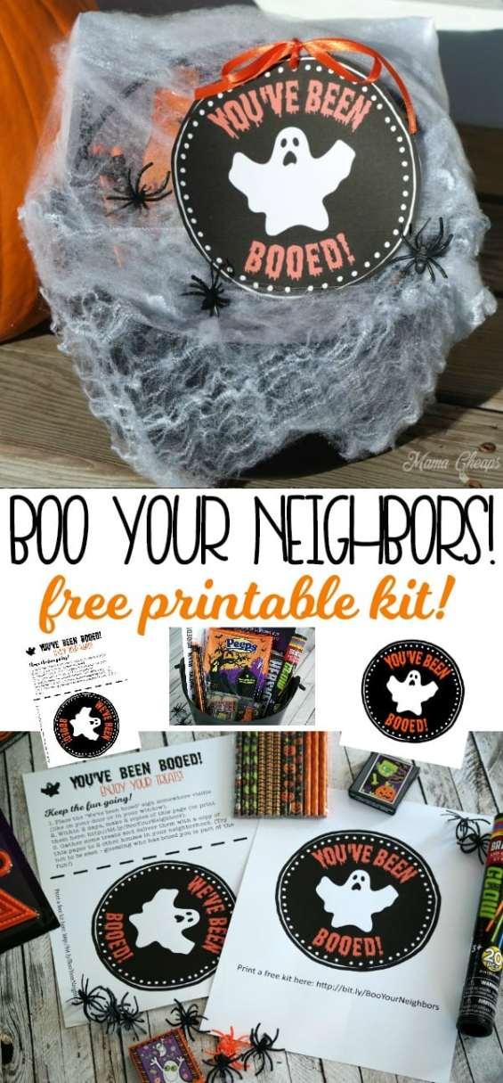 Boo You Neighbors Free Printable Kit