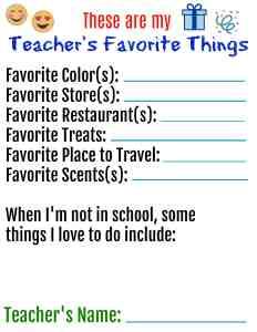 Teachers Favorite Things