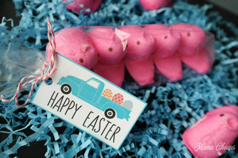 Easter Egg Truck Printable Treat Tags