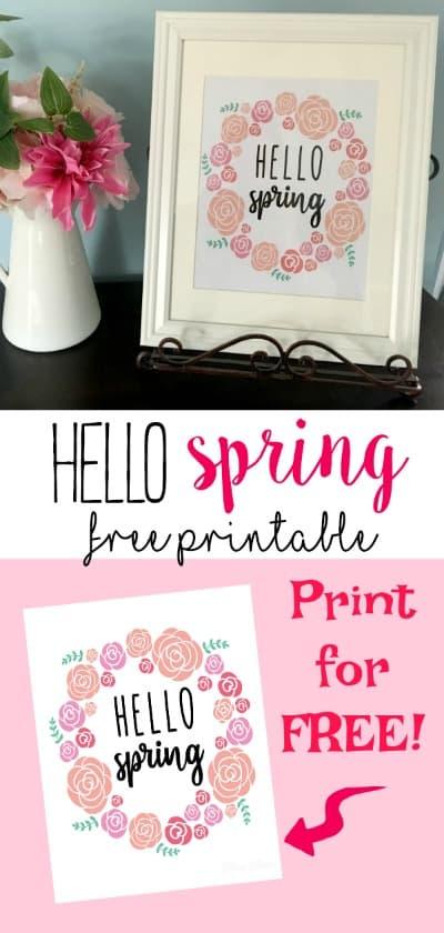 Hello Spring Printable Sign
