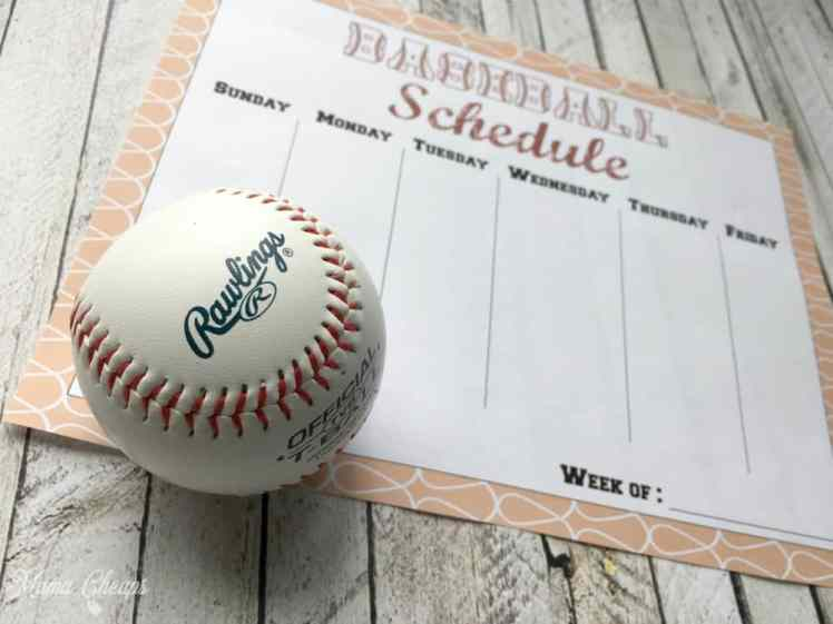 Personalized Baseball Schedule