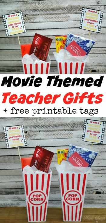 Movie Themed Teacher Gifts with Tags