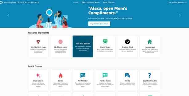 amazon blueprints homepage