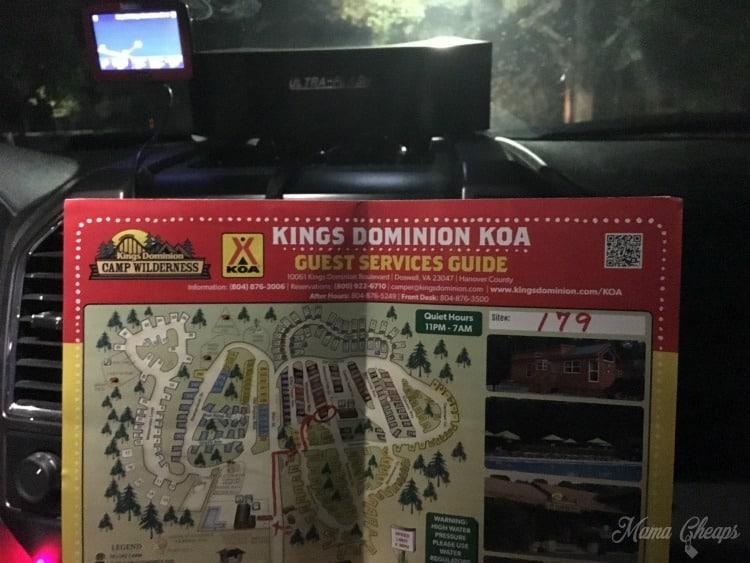 Kings Dominion KOA Map