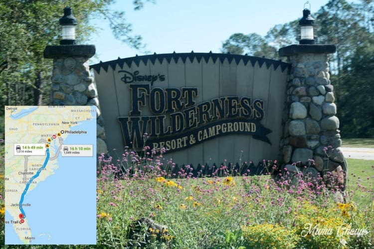 RV Campground Itinerary to Disney's Fort Wilderness from PA