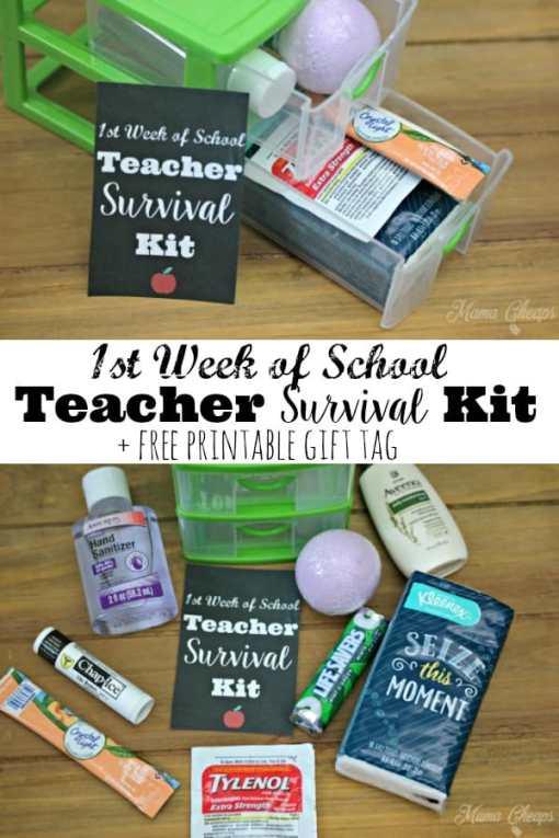 Teacher Survival Kit Gift Tag