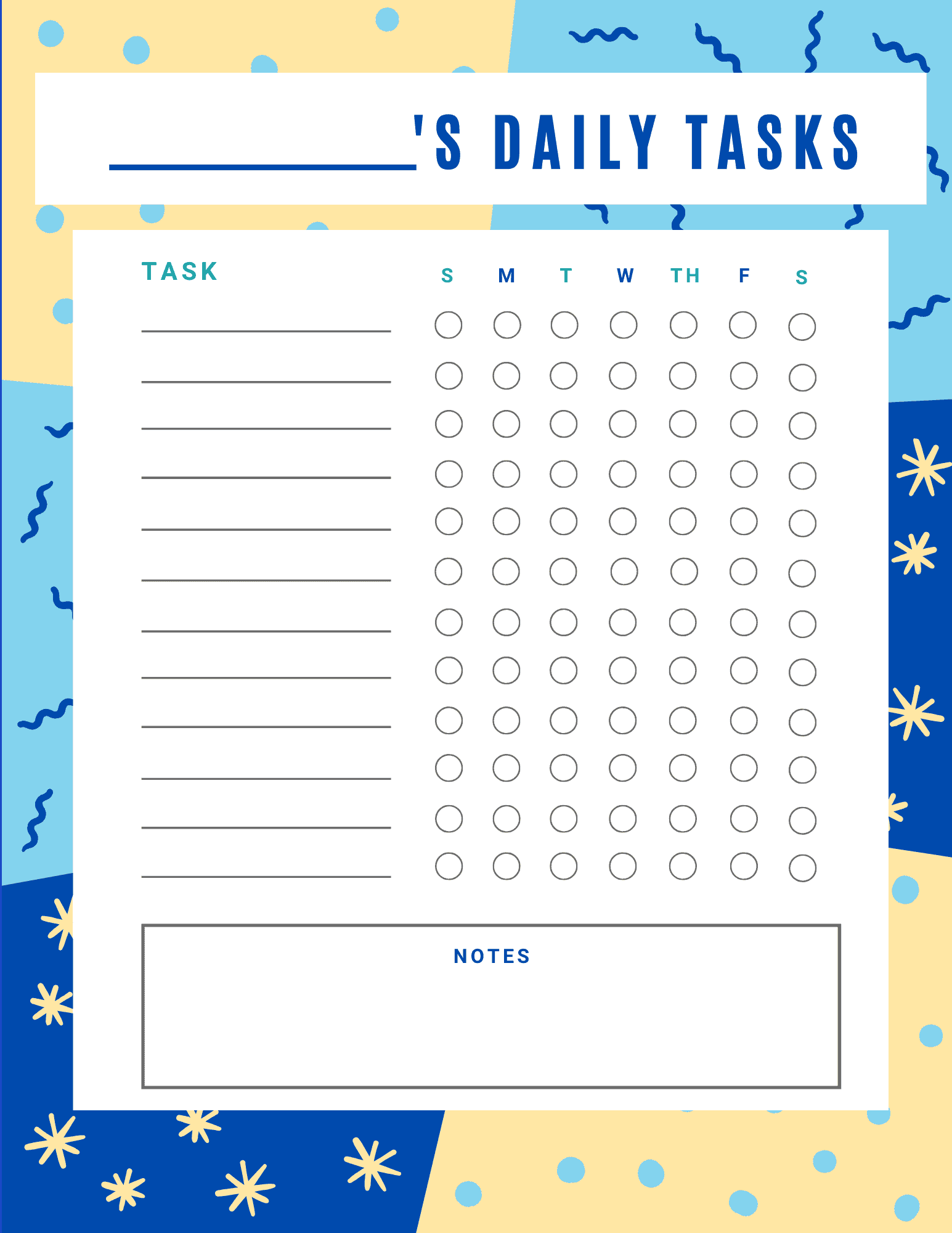 Printable Daily Task Schedule For Homeschooling And Chores