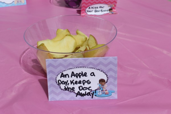 Doc McStuffins Party: An Apple a Day Keeps the Doc Away