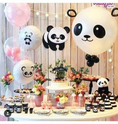 decoração aniversário panda