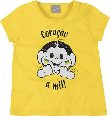 Camiseta Infantil Menina Malha 100% Algodão Turma da Mônica e Hering Kids - R$39,99
