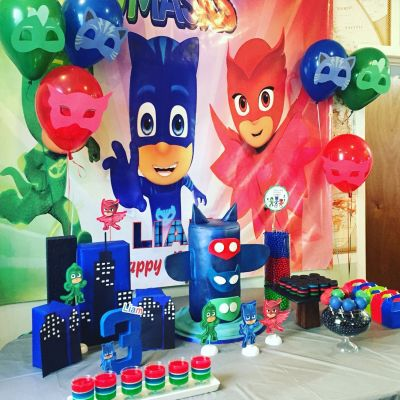 PJ Mask Aniversario decoração