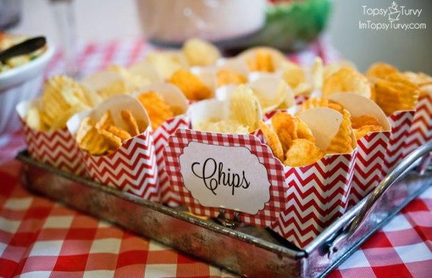 chips festa de aniversário piquenique