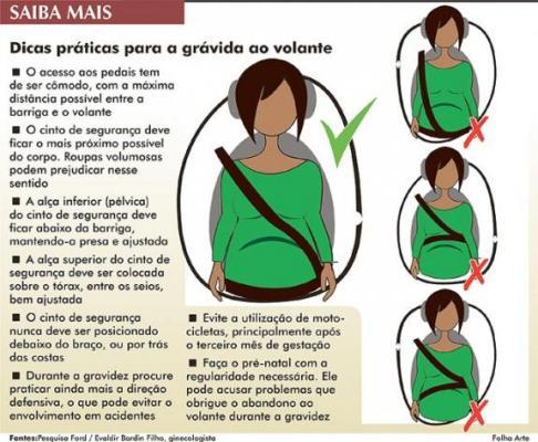 dicas de segurança - gravidez e transito