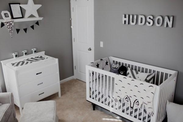 cinza quarto de bebe