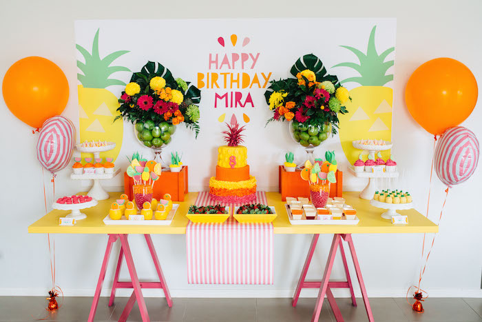 festa de aniversário abacaxi