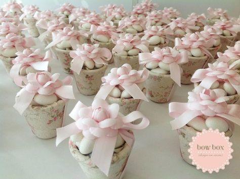 Vasinhos com amêndoas pra lembrancinha de Chá de Bebê ou maternidade