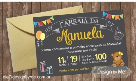 Convite Festa Junina do Elo7