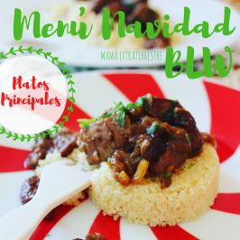 Menú de Navidad BLW: 2.platos principales
