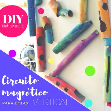 Circuito magnético vertical para bolas DIY