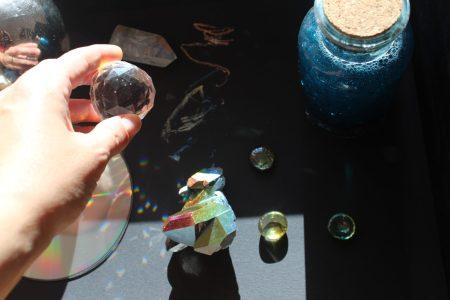juegos de luz sol mama extraterrestre arcoiris destellos