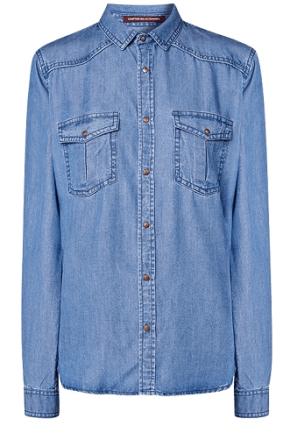 chemise en jeans comptoir des cotonniers