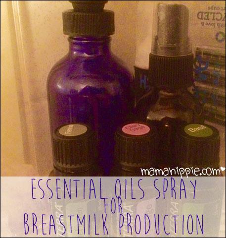 More milk essential oil spray