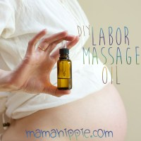 Labor Massage Oil Using Essential Oils