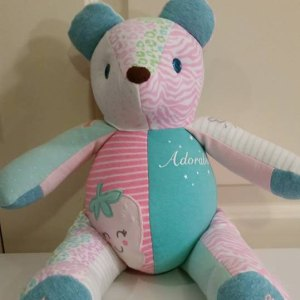Custom Onsie Teddy Bear by Paulas Bears