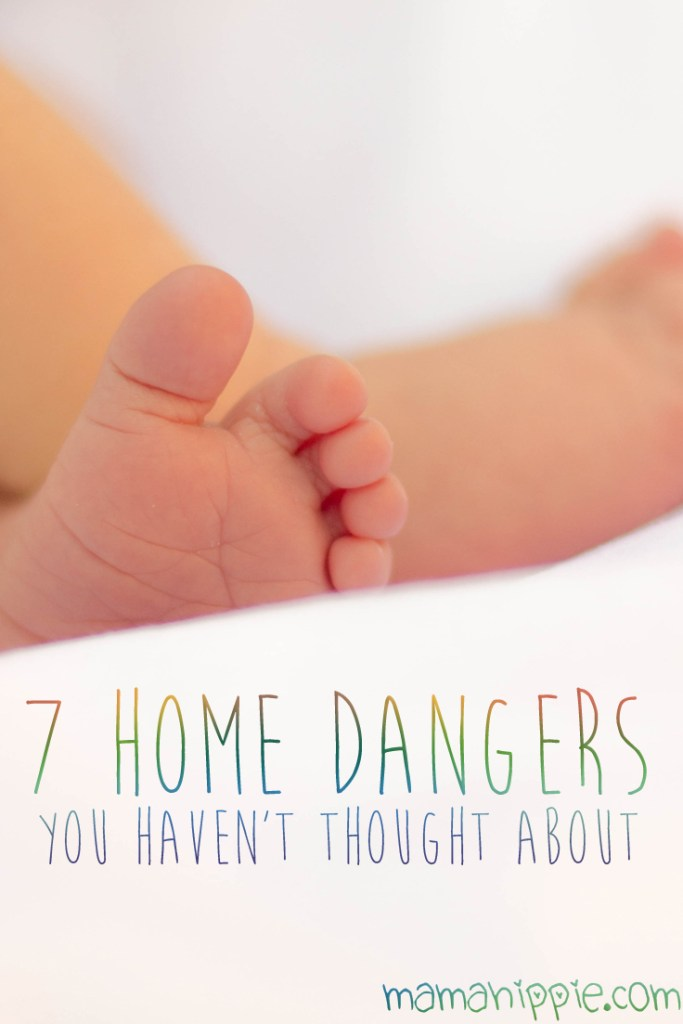 We do the best we can to make our home safe for baby, but we often overlook many things in our own home. 7 home dangers you probably haven't thought about. Great read!