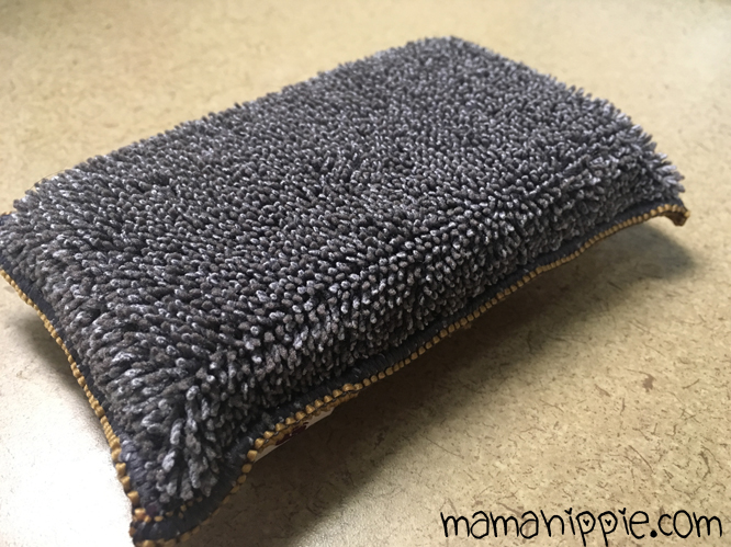 The microfiber double sided sponge is a great addition to any kitchen, cutting down cleaning time in half.