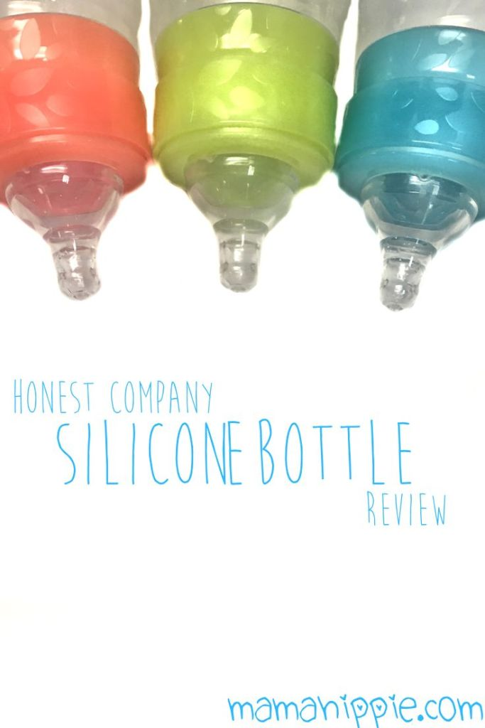 The Honest Company's silicone bottles are safe, toxin free and nonporous, plus they promote hand eye coordination and are the perfect tactile experience for breastfed and formula babies.