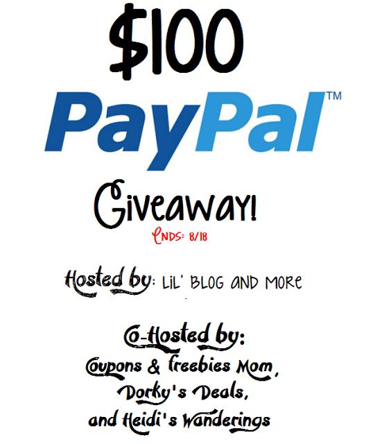 Enter to win $100 Cash via PayPal