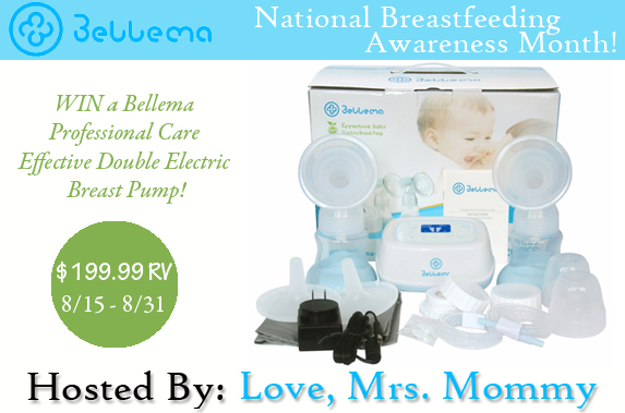 Win a Bellema Breast Pump! Open 8/15-8/31