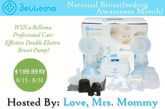 Win a Bellema Breast Pump! Open 8/15-8/31